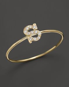 Zoe Chicco 14K Yellow Gold Pave Diamond Initial Ring, .04-.06 ct. t.w. Antique Jewellery Designs, Antique Jewelry, Jewelry Rings, Jewelery, Silver Jewelry, Jewelry Design, Silver Charms, Stylish Alphabets, Love Ring