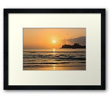 """Framed Print """"Beautiful tropical sunset"""" • Also buy this artwork on stationery, stickers, phone cases, and more. The whole collection is here http://www.redbubble.com/people/dvoevnore"""
