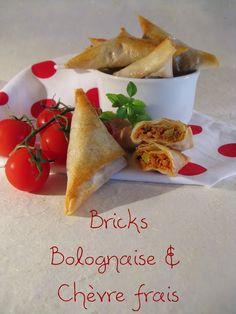 J'en reprendrai bien un bout...: Bricks à la Bolognaise & Chèvre frais