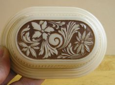 Art Deco vintage celluloid plastic Wedding Ring Box by LucyLucy9