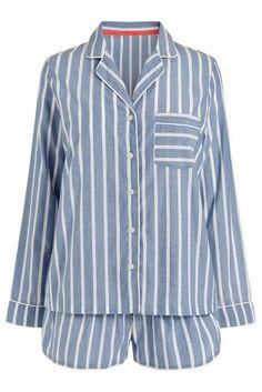 Blue Stripe Button Through Sleep Set from Next