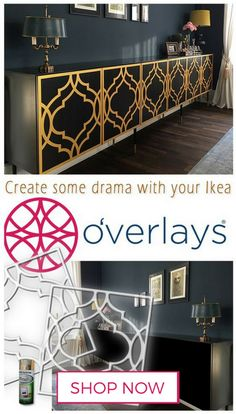 Create some drama with your Ikea. Transform your furniture into something that . - Home Decor -DIY - IKEA- Before After White Furniture, Upcycled Furniture, Furniture Projects, Painted Furniture, Diy Furniture, Furniture Stores, Furniture Outlet, Furniture Removal, Discount Furniture