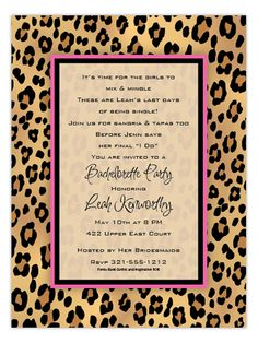 Lovely Leopard Invitation