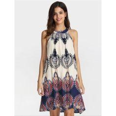 Sheinside tribal print halter dress Never worn. Perfect for beach and summer. Fits true to size. Measurements - Bust: 82cm; Waist: 82cm; Length: 86cm Sheinside Dresses Midi