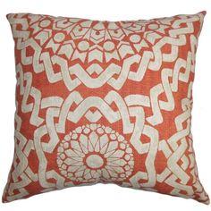 "Juneil Geometric Pillow Tamanho: 18 ""x18 $ 51,99 por Wayfair"