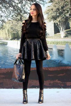 Loving Mayte's killer dark-glam look. Style inspiration via MayteDoll