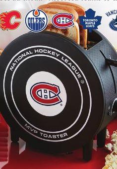 Grille-pain MVP Toaster en forme de rondelle de hockey