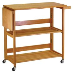 Found it at Wayfair - Foldable Wood Top Kitchen Cart in Oak