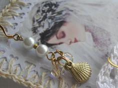 Beach Wedding Jewelry 14 k gold Bride Bridesmaid by handcraftusa