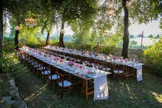 Tuscany Wedding with Chandeliers