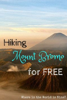 This is the ULTIMATE guide for hiking Mount Bromo for FREE. Yes- FREE! The solo hike is definitely worth it and I can tell you right now, seeing Mount Bromo rather than 100 heads in front of you is much nicer! :)