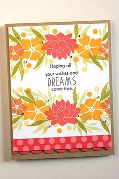 Daydreamer Revisited: Wishes And Dreams Card by Heather Nichols for Papertrey Ink (July 2015)