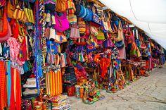 Market, Panajachel, Solola, #Guatemala. Huipiles