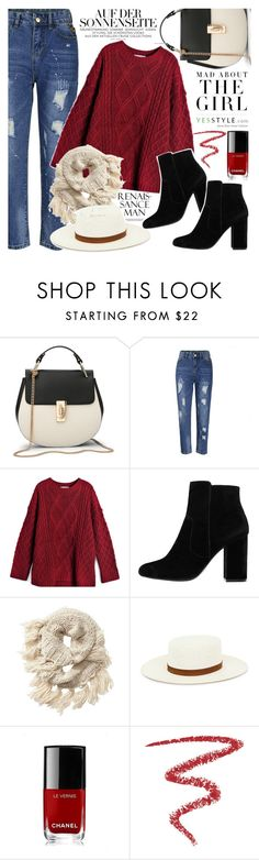 """""""YesStyle - 10% off coupon"""" by vanjazivadinovic ❤ liked on Polyvore featuring Flore, MANGO, Kershaw, Athleta, Janessa Leone, Chanel, By Terry, Fall and yesstyle"""