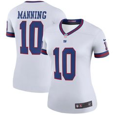 916cc3c0a Eli Manning New York Giants Nike Women s Color Rush Legend Jersey - White