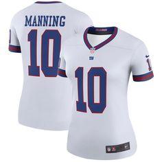 Eli Manning New York Giants Nike Women s Color Rush Legend Jersey - White 7e4dc3ff6