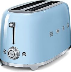 Smeg TSF02PBUS 50s Retro Style Aesthetic 4 Slice Toaster Pastel Blue * Check this awesome product by going to the link at the image. Note: It's an affiliate link to Amazon