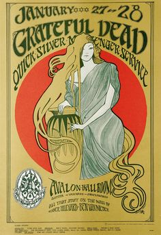 The Greatful Dead Concert Poster 1967