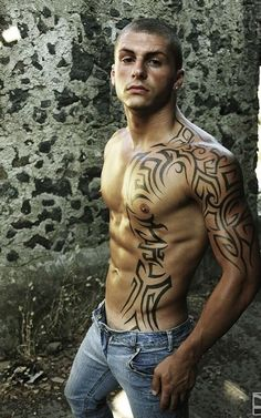 Insanely Awesome Tribal Tattoo Ideas For Men - Blurmark - Half sleeve tattoo, continues over the man chest. Insanely Awesome Tribal Tattoo Ideas For Men - Blurmark - Half sleeve tattoo, continues over the man chest. - The Best Tatu. Tribal Tattoos For Men, Tribal Tattoo Designs, Tattoos For Women, Tribal Sleeve Tattoos, Chest Tattoos For Men, Half Sleeve Tattoos For Guys, Tattoo Son, Arm Tattoo, Abdomen Tattoo