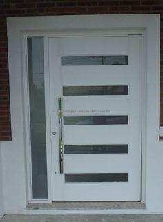 Porta pivotante com visores de vidro, portal lateral com vidro panorâmico - Ecoville Portas Especiais
