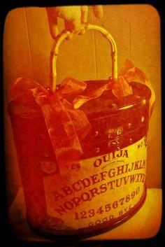 Ouija board oval trunk purse by Secretia Noxious