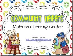 For those of you that do community helpers as a theme, here are some math and literacy centers for you!