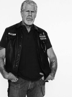 "Clarence ""Clay"" Morrow - Sons of Anarchy #ClayMorrow #RonPerlman #ClarenceMorrow…"