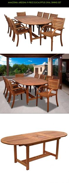 Amazonia Arizona 9-Piece Eucalyptus Oval Dining Set #shopping #technology #racing #fpv #patio #dining #kit #products #parts #drone #9 #tech #camera #furniture #piece #gadgets #plans