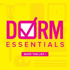 Dorm Room Decor Essentials. Make sure you take these with you to #college!