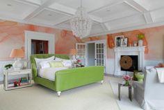Hampton Designer Showhouse 2012 | water-colour wallpaper by Black Crow Studios | design by Robert Passal Interiors | photo by Eric Striffler