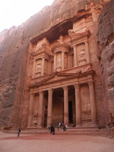 Petra is a historical and archaeological city in the southern Jordanian governorate of Ma'an, that is famous for its rock-cut architecture and water conduit system. Another name for Petra is the Rose City due to the color of the stone out of which it is carved.