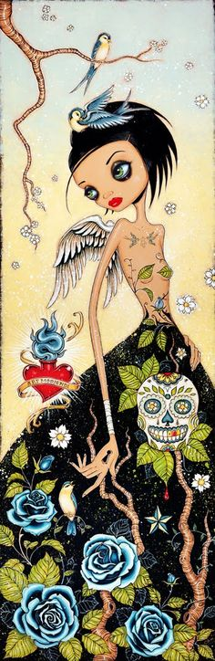 Caia Koopman  The Daily Telecraft: Day of the Dead Artwork!