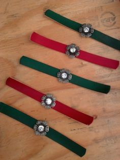 Awesome Red and Green Leather Bracelets #Nicos Creations #Ernie Catzoela #Catzoela