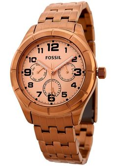 The Fossil Stainless Steel Watch is a unique and beautiful timepiece that will add style and functionality to any outfit and for any occasion. This watch has a rose colored band and casing with a quar