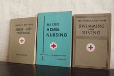 3 Vintage American Red Cross Text books ( I have the first aid one)!