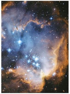 Astronomy Fabric Infant Stars Hubble Photograph von StellarFabric