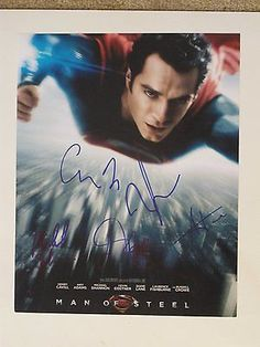 Man Of Steel Superman Cast Autographed Signed Poster Photo 11X14 COA Henry Cavil