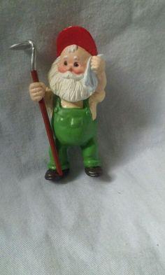 "Hallmark Keepsake ""Hoe-Hoe-Hoe Santa"" 1988 Christmas Ornament #HallmarkKeepsakeOrnament #SantaOrnament"