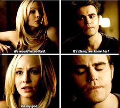 "#TVD 5x14 ""No Exit"" - Caroline and Stefan"