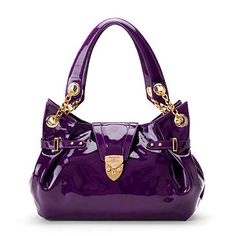 Damn, is this fierce or what? If this bag became human, it'd be a secret agent assassin who'd kill somebody immediately. (Aspinal of London Barbarella Bag Purple)