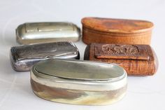 Old snuff boxes Sweden