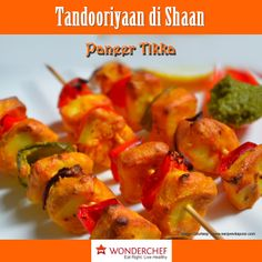 Try this Yummy Paneer Tikka Recipe by Chef Sanjeev Kapoor.. !!!!