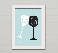 Instant download A4 #Poster, Cin Cin, Cheers, black blu sky, Art, Wall Hanging, Kitchen decor, Gift by #LasagnaTheCat  via @Etsy