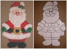 ♥♥♥ Amo la Navidad! Felt Christmas Ornaments, Christmas Wood, Christmas Crafts For Kids, Christmas Items, Christmas Projects, Holiday Crafts, Christmas Wreaths, Diy Projects Handmade, Felt Crafts Patterns