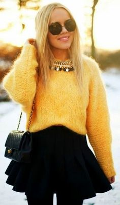 fuzzy sweaters are a key accessory - love mine from TopShop