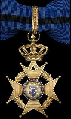 Order of Leopold II Commander's neck badge; Type 1 1900-1908 (Congo Free State).