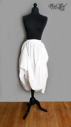 Low Key  - Website -  1970's Emanuelle Designer White Garter Belt Skirt - M