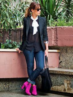 Miss trendy Barcelona: Fucsia booties