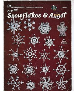 Snowflakes & Angels Crochet Christmas Pattern Pat Depke Books PD-5561. $5.00, via Etsy.