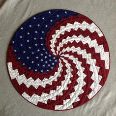 American Flag Quilt Pattern Turn the classic American Flag design into a nostalgic quilt.Patriotic quilts of honorBeautiful Quilt representing America This week we learned how to make various types of quilt block and the patchwork tech. Bargello Quilt Patterns, Bargello Quilts, Barn Quilt Patterns, Quilting Patterns, Quilting Templates, Jellyroll Quilts, Rag Quilt, Quilting Ideas, Quilted Table Toppers